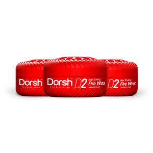 3x Haarwax Dorsh D2 Fire Wax 150 ML