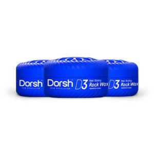 3x Haarwax Dorsh D3 Rock Wax 150 ml