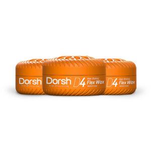 3x Haarwax Dorsh D4 Flex Wax 150 ML