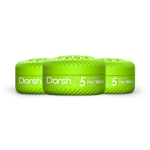 3x Haarwax Dorsh D5 Mat Wax 150 ML