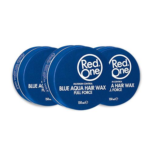 3x Red One Wax Aqua Blue Voordeelpakket