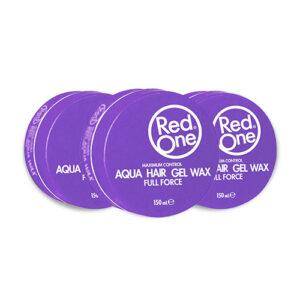 3x Red One Gel Wax Aqua Paars Voordeelpakket