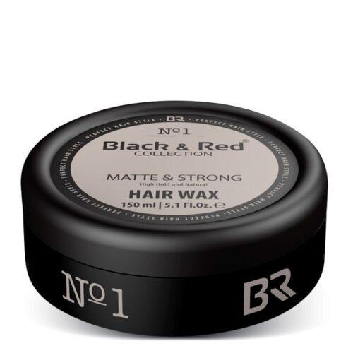 Haarwax Matte Strong – Black & Red
